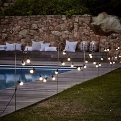 Pool Dekor Lichterketten 32 New Ideas Backyard Wedding Pool Dreams