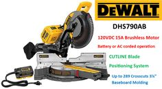 Top Power Tools reviews the DeWalt DHS790AB 120V MAX cordless double bevel compound sliding miter saw Sliding Mitre Saw, Sliding Compound Miter Saw, Compound Mitre Saw, Baseboard Molding, Baseboards, Cordless Power Tools, Generators, Ac Power, Electric Motor