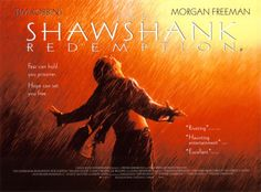 """The Shawshank Redemption, starring Tim Robbins, Morgan Freeman, Bob Gunton, William Sadler, Clancy Brown, Gil Bellows and James Whitmore. Written and directed by Frank Darabont; based on the short story """"Rita Hayworth and Shawshank Redemption"""" by Stephen King. ($19.99)"""