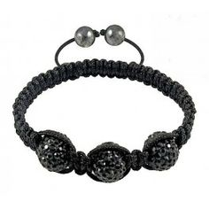 Black disco crystal and hematite bracelet
