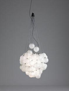 Stochastic Pendant - LED - 48 elements - Ø 40 cm Satin white by Luceplan