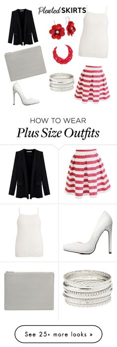 """""""Pleated stripes"""" by envymestyles on Polyvore featuring maurices, Charlotte Russe, Humble Chic, Status Anxiety and pleatedskirts"""