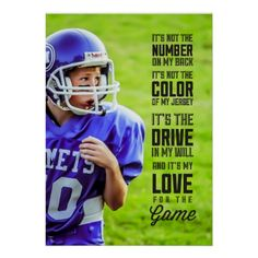 Make your kid feel like a star athlete. Upload your own photo for a custom poster. The quote can be moved and resized to fit either a vertical or horizontal layout.