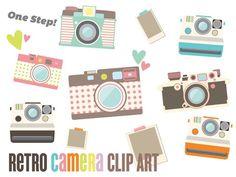 Vintage camera clip art > photo clip art, retro camera clip art ...