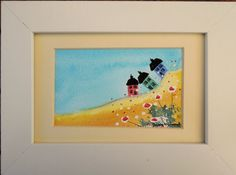 Quirky Houses Original Watercolour Framed Painting by FrancesArt, £12.00