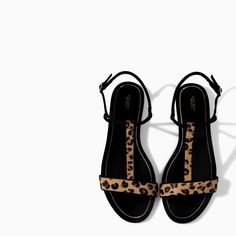 bb5c51e2afb PRINTED LEATHER SANDAL WITH EDGING from Zara Zara Sandals