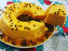 Pudim de Maracujá que não vai ao forno vem fazer hoje - No Sugar Desserts, Mousse, Mashed Potatoes, Panna Cotta, Cheesecake, Deserts, Food And Drink, Banana, Tasty