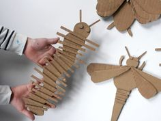 Cardboard is my favorite material. It's a great indoor creative activity to do with the kids. Cut some shapes and glue them all together. School Art Projects, Projects For Kids, Crafts For Kids, Arts And Crafts, Cardboard Sculpture, Cardboard Crafts, Paper Crafts, Cardboard Animals, Art Lessons Elementary
