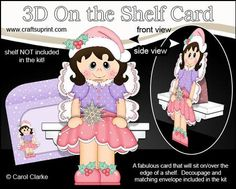 3D On the Shelf Card Kit Little Christmas Fairy on Craftsuprint - View Now!