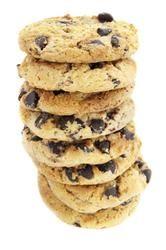 como hacer simples galletas con chips de chocolate.