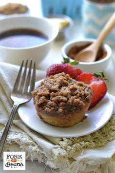 Cinnamon Streusel Mini Coffee Cakes (gluten-free vegan)