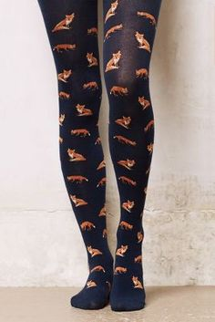 fox-print tights