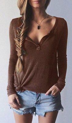 Burgundy Long Sleeve T-Shirt