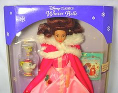 Vintage Doll Mattel Beauty And The Beast Belle Pink Dress