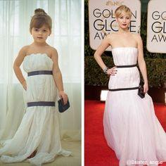 La niña que se hace sus propios vestidos de papel imitando a las Celebrities, GENIA