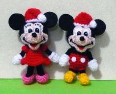 Crochet Micky and Minnie Christmas Amigurumi by DarmianiCrochet, $39.00