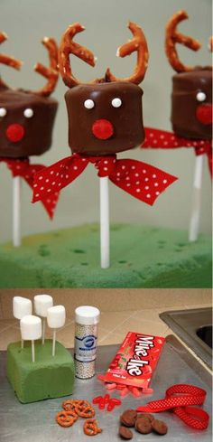 Chocolate-Covered Marshmallow Reindeer 19 Amazingly Cute Ideas For Christmas Treats That You Can Actually Make Christmas Truffles, Christmas Food Treats, Christmas Deserts, Xmas Food, Christmas Cooking, Christmas Goodies, Christmas Candy, Simple Christmas, Holiday Treats