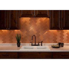 Soft Brush Copper Backsplash Tile Kitchen Photos Tiles