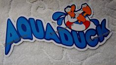 DISNEY Cruise AQUADUCK Die Cut Title Scrapbook by scrappinsunshine