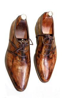 Handmade Wooden Men Shoes