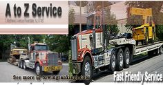 A to Z Service is a family owned and operated business established by in 1959.A to Z Trucking Hauling of NJ and NY offers Commercial Towing, Heavy Load Hauling or on the spot Welding    See more :http://www.towingrankings.com/a-z-service.html