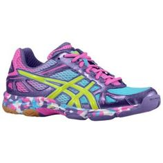 ASICS® Gel-Flashpoint - Women's - Volleyball - Shoes - Grape/Pink/Lime