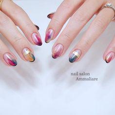 really cute nails Love Nails, Pink Nails, Pretty Nails, My Nails, Summer Acrylic Nails, Summer Nails, Crackle Nails, Rainbow Nail Art, Almond Nails Designs