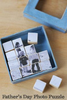 Cool DIY Photo Projects and Craft Ideas for Photos - Photo Puzzle - Easy Ideas for Wall Art, Collage Diy Photo, Photo Craft, Fathers Day Photo, Fathers Day Crafts, Diy Instagram, Creative Birthday Ideas, Creative Ideas, Creative Crafts, Diy Gifts For Friends