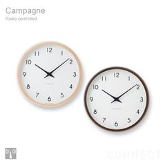 LEMNOS(レムノス)Campagne(カンパーニュ)電波時計、掛時計(掛け時計) Thing 1, Wooden Clock, Gifts For Office, Outdoor Life, Bronze, Metal, Clock Ideas, Modern Wall, Clocks