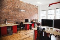 plywood flooring with brick walls - Google Search