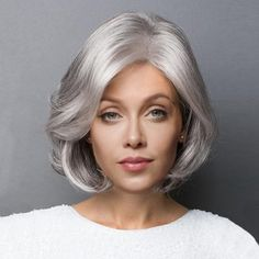 Short Side Parting Slightly Curled Bob Synthetic Wig