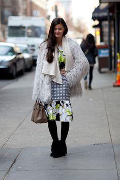 Fall 2013: New York Fashion Week. Prints in street style