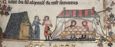 A Baker's Tent from The Romance of Alexander, 1338-1344
