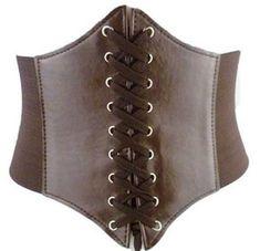 Serre taille marron steampunk a lacet et scratch, ceinture > JAPAN ATTITUDE - VATSTA012   Shop : www.japanattitude.fr