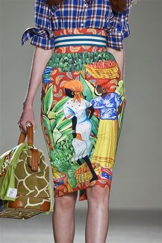 Stella Jean ss 2015. I would feel rather terrible wearing this - imperialism much? But SO PRETTY!