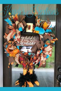 Showcasing some wreaths or other florals created by designers on the Trendy Tree Custom Wreath Designer List. Most all these wreaths are offered for sale Deco Mesh Wreaths, Holiday Wreaths, Holiday Decorations, Door Wreaths, Halloween Wreaths, Holiday Fun, Turkey Wreath, Easy Fall Crafts, Diy Crafts