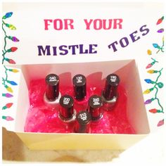 I think it would be cool to make a little gift box with some nail polish in a color that reminds you of that person. need to remember this.