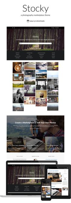 A Photography Marketplace Theme Built on Easy Digital Downloads,