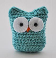 Wonderland Blue Crochet Owl Friend by CaliforniaSweetPeas on Etsy