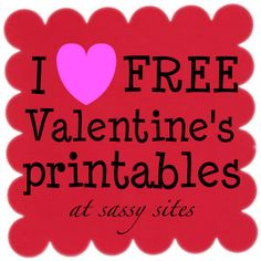 tons of free Valentine printables. lots of red and pink -- some would be good for showers and parties, too! My Funny Valentine, Valentine Day Love, Valentine Day Crafts, Valentine Ideas, Kids Valentines, Valentine Sayings, Valentine Stuff, Valentine Party, Homemade Valentines