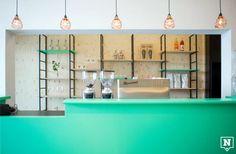 Wie fan is van geometrische vormen, moet beslist een bezoekje brengen aan deze lunchbar in Hasselt. Ook op je bord vind je vierkant en rond in eetbare vorm.
