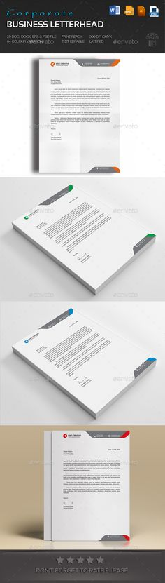 Corporate Business Letterhead Corporate business - business letterhead