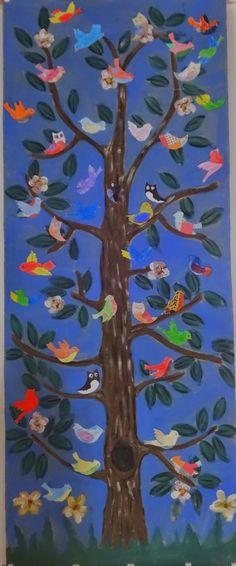 Csak kreatívan- A rajztanár szeme: Madarak és Fák Napja- Birds and Trees Bed Spring Crafts, Green Day, Art For Kids, Group Projects, Birds, Education, Classroom, Paintings, Teaching