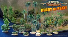 BAUEDA SPECIALS pre-made flora for 28mm scale miniature terrain.