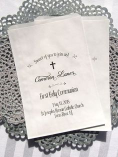 First Communion Party | First Communion Favor Ideas | First Communion Favor Bags | by Abbey and Izzie Designs
