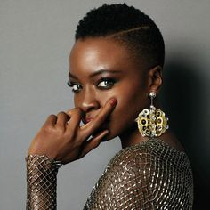 low cut with part on side Danai