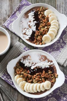 7. Chocolate Coffee Protein Breakfast Bowls #paleo #breakfast #bowls http://greatist.com/eat/paleo-breakfast-recipes-to-eat-by-the-bowlful