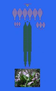 Схема плетения из бисера - хионодокса фотография