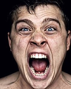 Scream by Denis Demkov, via Poses, 3 4 Face, Face Drawing Reference, Emotion Faces, Expressions Photography, Angry Face, Man Photography, Shooting Photo, Model Face