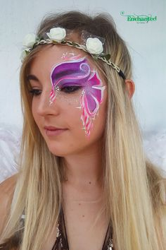 This was painted at a birthday party where the theme was Fairies and Elves Adult Face Painting, Painting For Kids, Professional Face Paint, Hula Hoop, 30th Birthday, Some Fun, Elves, Enchanted, Fairies